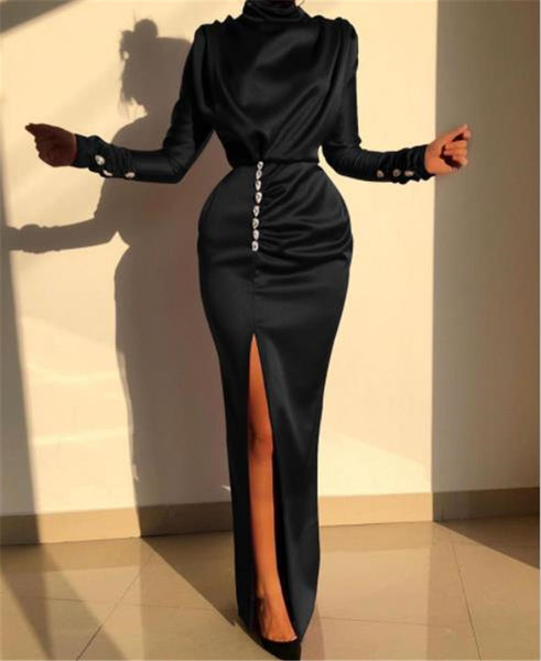 Elegant Long-sleeved sexy open fork dress CODE: READY843