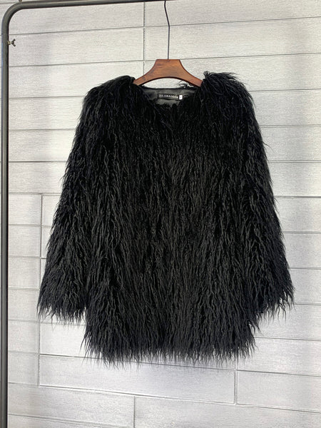 Long hair imitation wool hairy pullover CODE: READY849