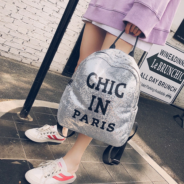 Classy Sequins Backpack bag CODE: mon1360
