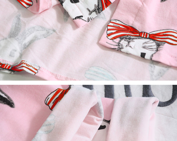 Cartoon Cute Rabbit Loose Pyjamas set CODE: mon1364