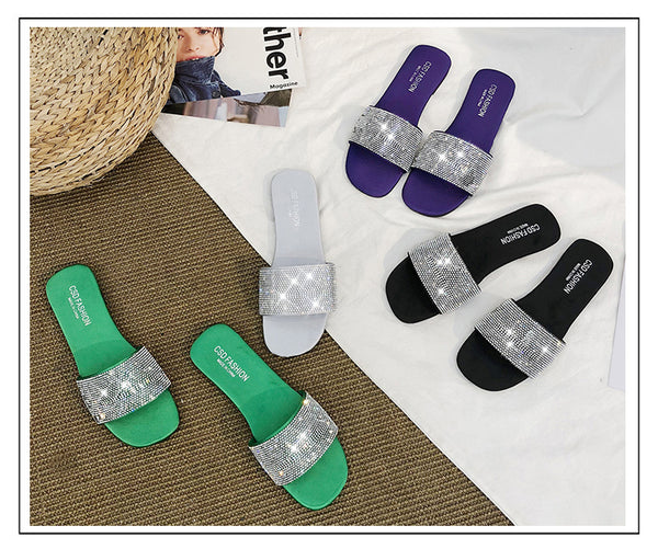 wild flat diamond Cool Slippers CODE: mon1381