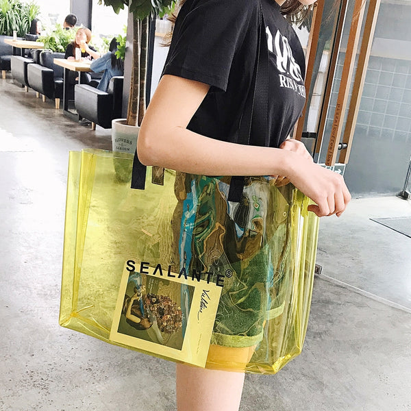 portable large capacity beach bag transparent bag CODE: mon1403