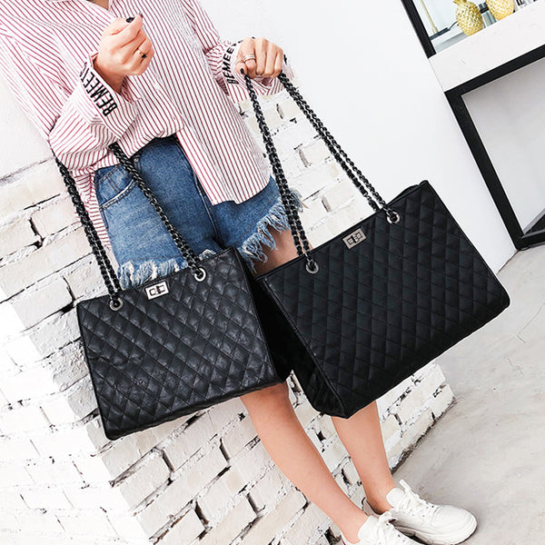 diagonal package large capacity chain Handbag CODE: mon1414