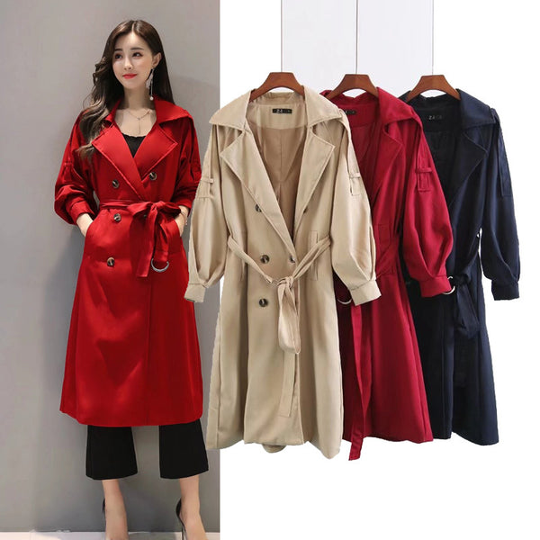 temperament Slim belt Coat Outerwear CODE: mon1444