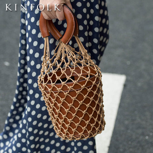 Bucket bag fishing net bag handbag CODE: mon1481