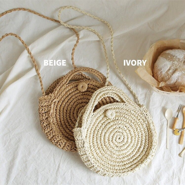 round bales woven bag beach bag shoulder bag CODE: mon1489