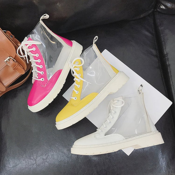 Casual Boots Transparent Patch CODE: mon1546