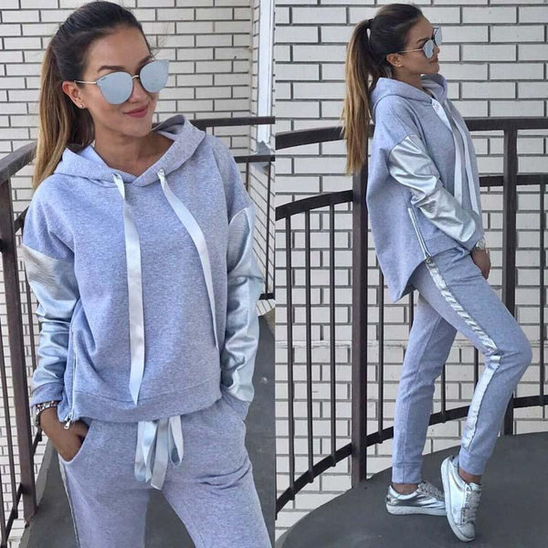 Cross-border hooded sweater trousers two-piece set CODE: mon1683