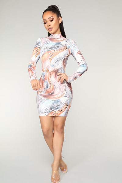 Digital print mini dress CODE: mon1712