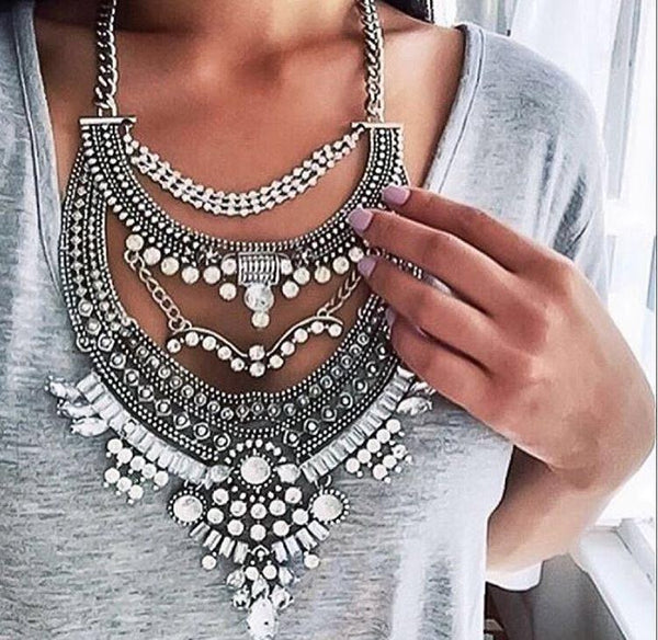 diamond big  chain Neckpiece CODE: mon1781