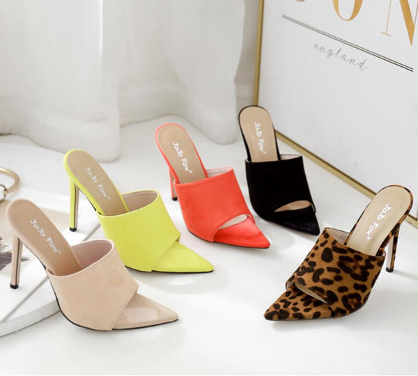 High-heeled suede wear sandal CODE: mon1794