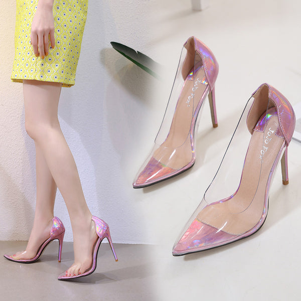 Sexy transparent shallow high heel shoes CODE: mon1809