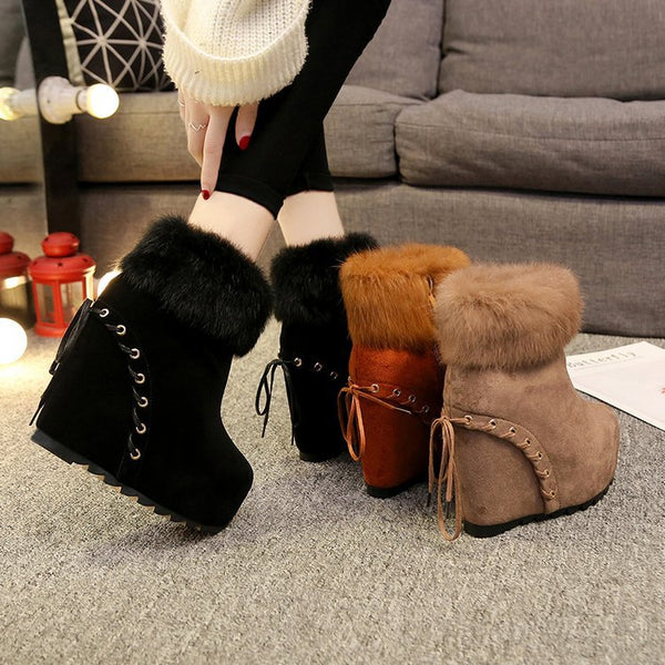 Fur short high-heeled Martin boots CODE: mon1817