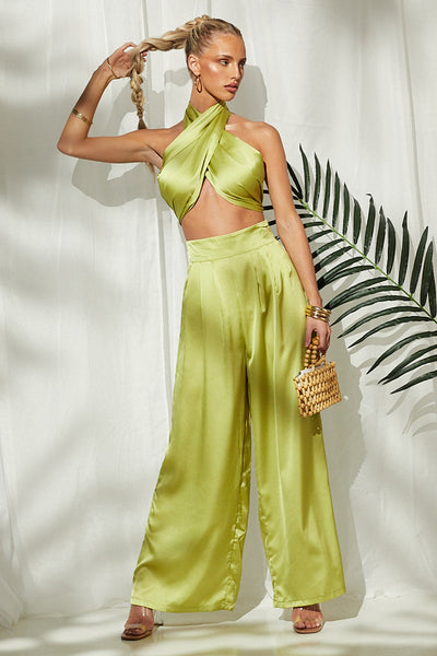 Tube top wide leg pants suit CODE: MON1826