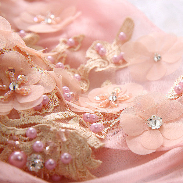 Angel  pink flower Party Wear/ Wedding/ Princess Dress CODE: mon483