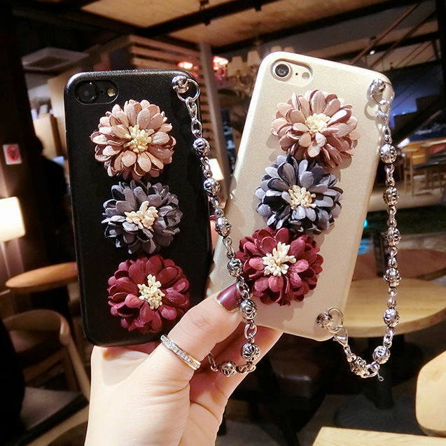 Three-dimensional flowers sheel protective cover Iphone 6/6s/6plus/7/7plus