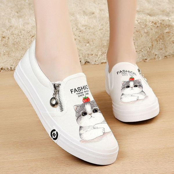 casual white canvas shoes CODE: mon493