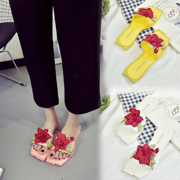 soft bottom non-slip toe flat Slippers CODE: mon513