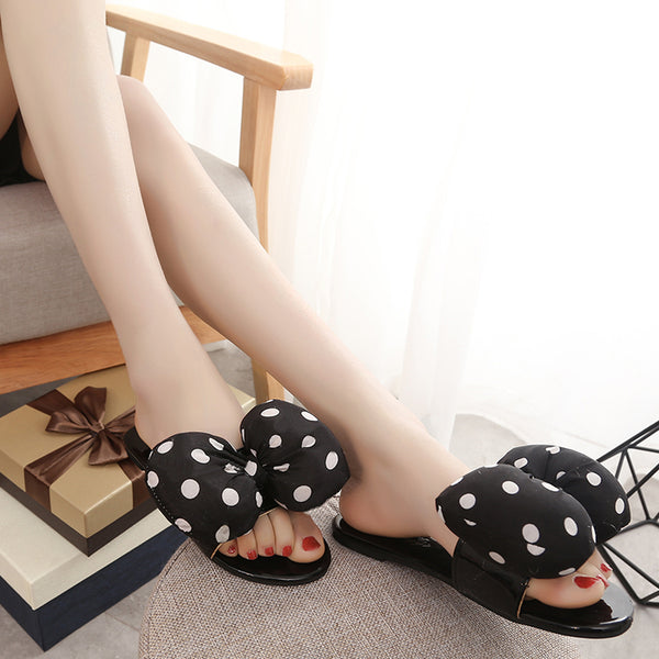 Bow Tie breathable leisure slippers CODE: mon524