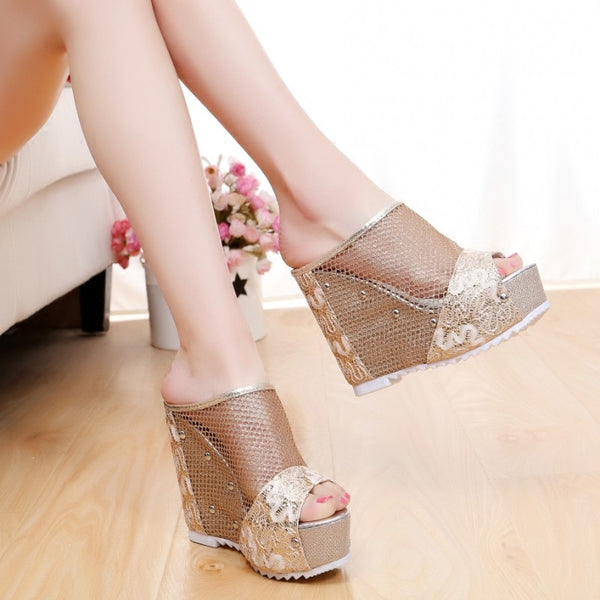 fish mouth cool high heel sandal CODE: mon525