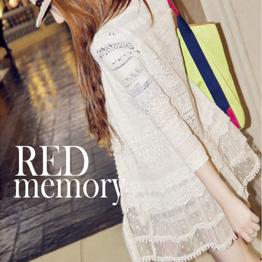 seven points sleeves lace cardigan coat outerwear CODE: mon543