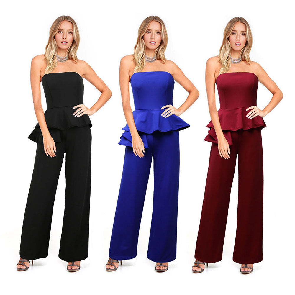 sexy pants belly loose off shoulder Jumpsuit CODE: mon547