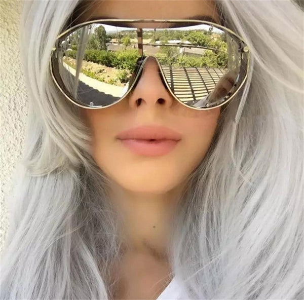 Style Clear Glass Transparent Glass/ Metal Sunglasses Sunwear CODE: mon549 , mon550