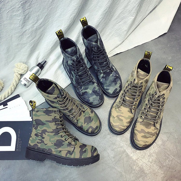 Stylish Martini camouflage new short boots CODE: mon551