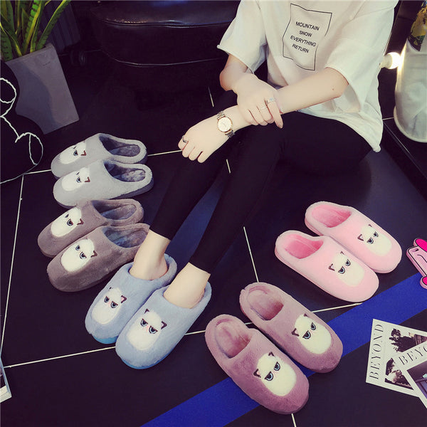 cartoon owl cotton slippers wear-resistant home slippers flats CODE: mon558