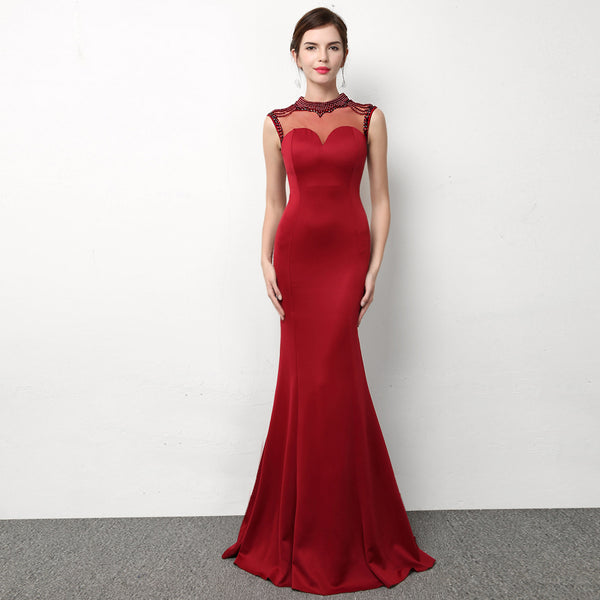 Annual meeting party wear  elegant long  sexy fish tail long dress CODE: mon562