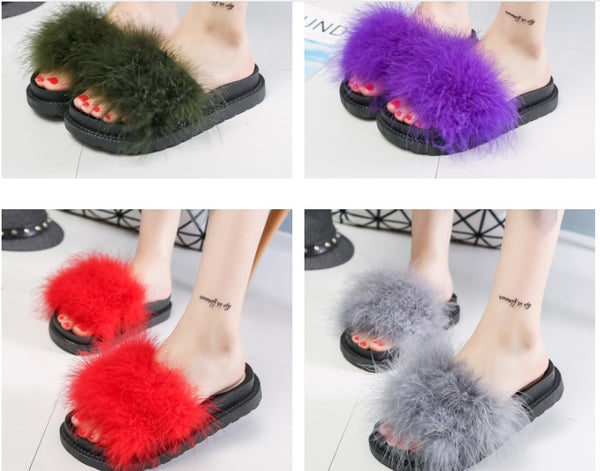non-slip thick bottom flat Plush Slipper CODE: mon575