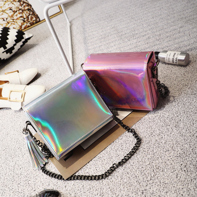 simple laser tassel Messenger bag  CODE: mon590