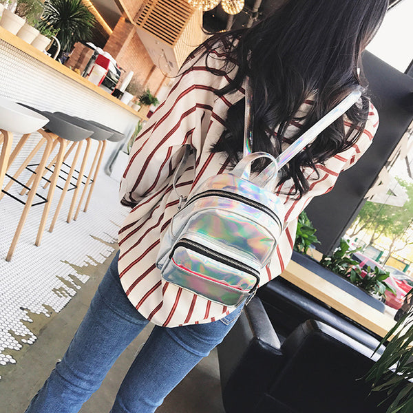 Laser backpack student bag simple leisure travel CODE: mon597