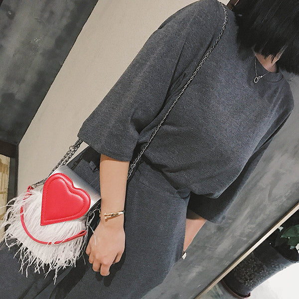 shoulder bag feather tassel messenger bag CODE: mon609
