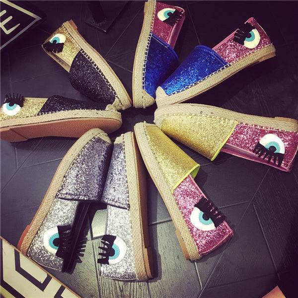 sequins big eyes thick base retro Flats CODE: mon626