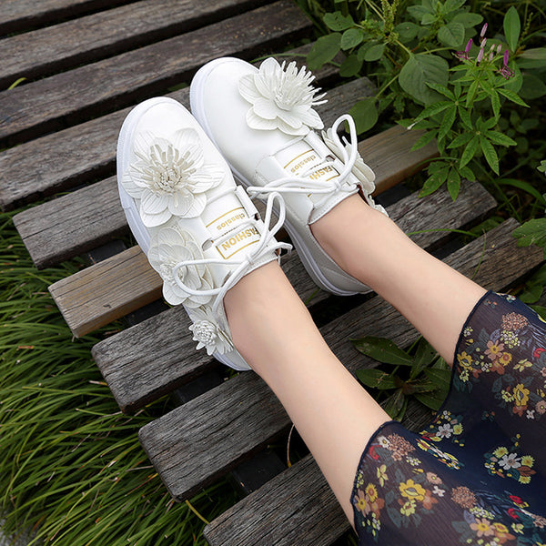 flowers shallow mouth single shoes CODE: mon639