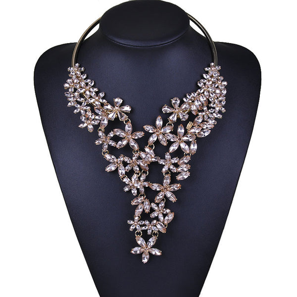 Creative studded diamond necklace  alloy neckpiece CODE: mon641