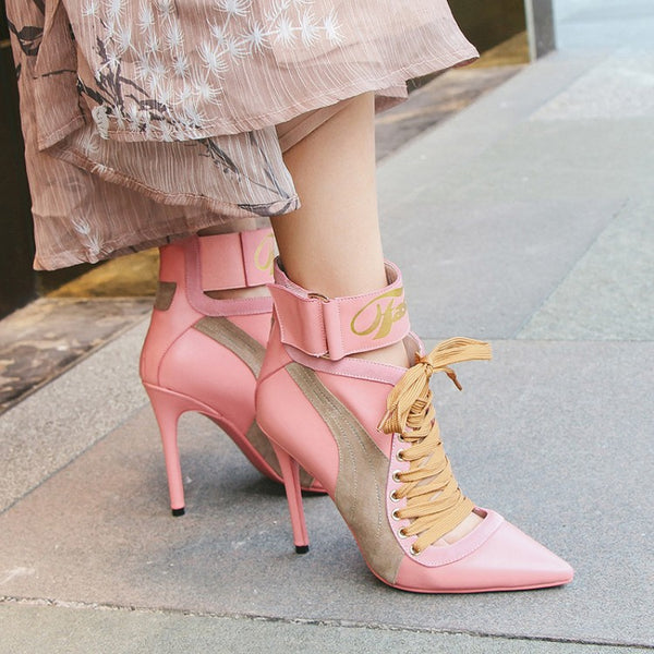 Imitation  paragraph thin color pointed high-heeled Shoes CODE: mon688