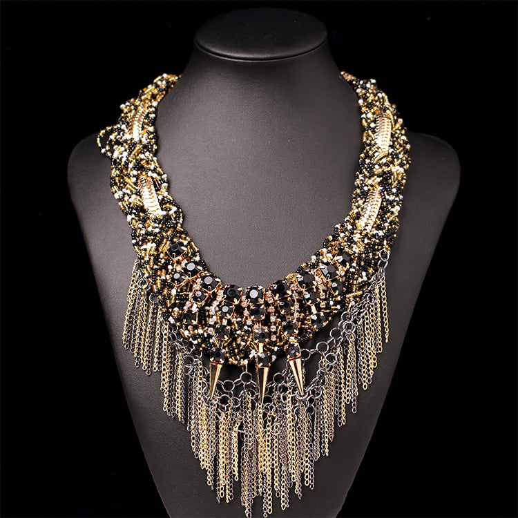 fringed necklace tassel necklace accessories Bead CODE: mon711