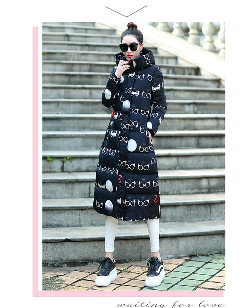 Thickening Slim Cotton Padded Long jacket CODE: mon733