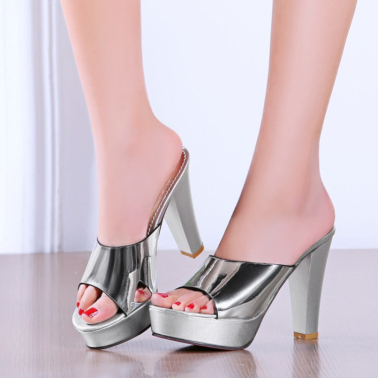 fish head thick platform high-heeled Sandal CODE: mon842