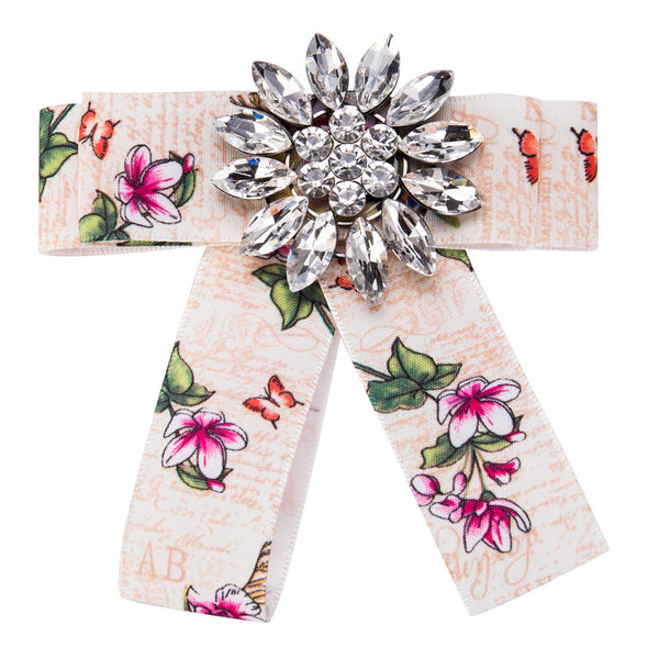 Diamond Dragonfly brooch  floral grosgrain brooch CODE: mon864 , mon865
