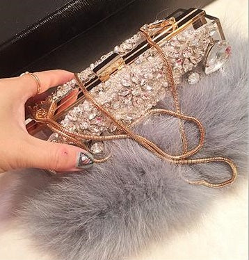 beaded diamond luxury transparent banquet bag clutch bag CODE: mon869