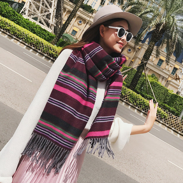 scarves imitation cashmere dual-use large shawl  CODE: mon889