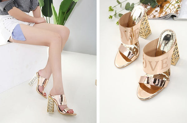 crystal sandals open toe high heels  CODE: mon892