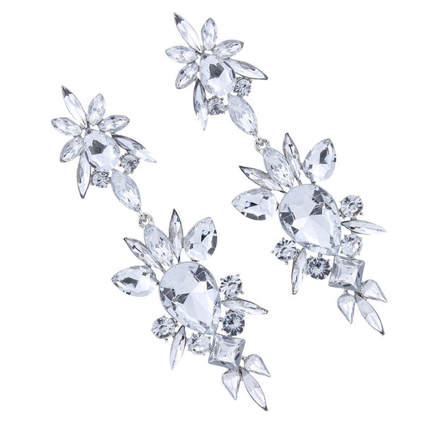 alloy crystal diamond earings CODE: mon893