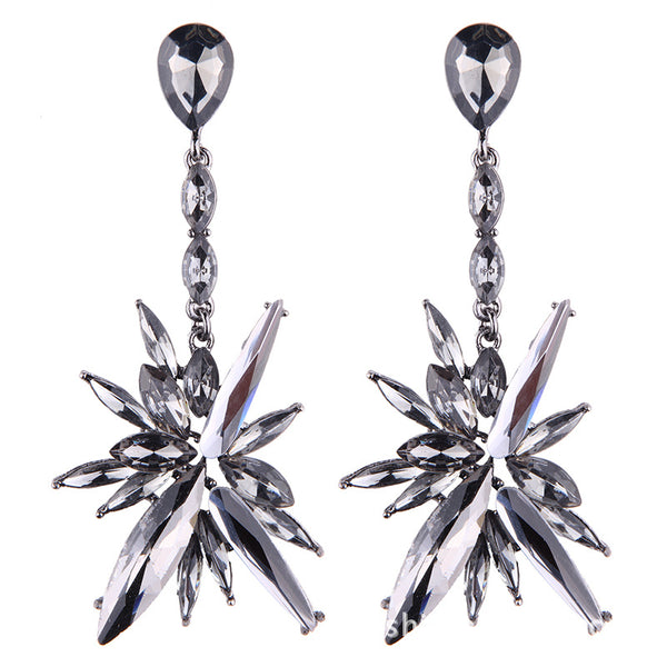 Alloy  diamond long earrings CODE: mon894