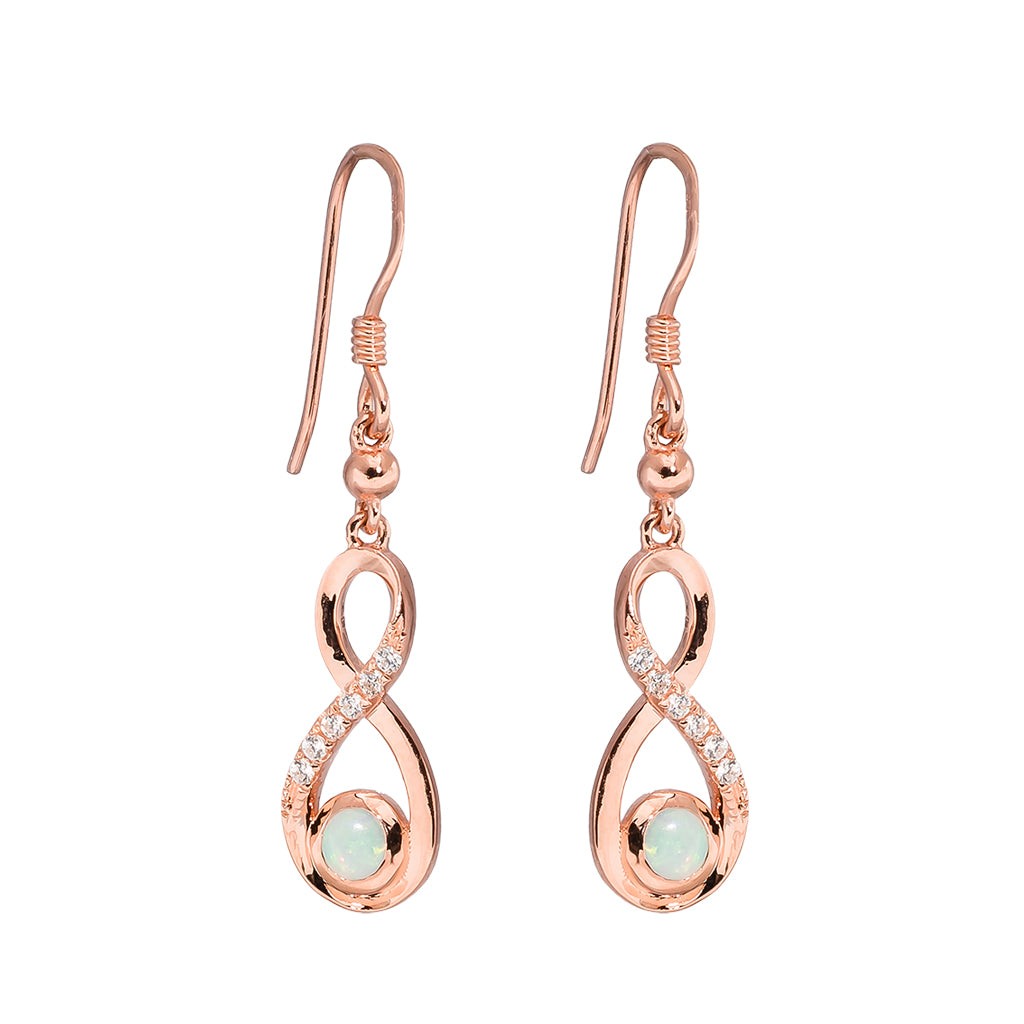 18K Rose Gold Plated Opal Earrings - 5796
