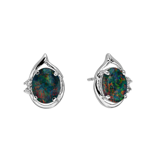 18K Gold Plated Opal Earrings - 033