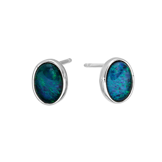 18K Gold Plated Opal Earrings - 045